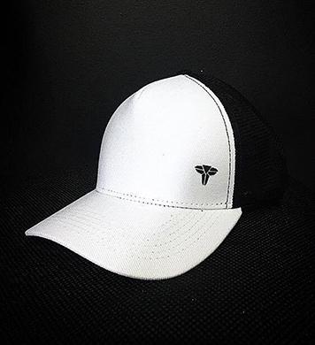 Bone Trucker Hat Diamond White