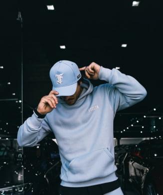Moletom masculino azul